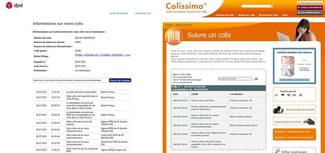 information colis