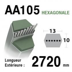 COURROIE AA105 Husqvarna 532165555 - 532180217 - AYP - BERNARD LOISIRS... 165555 - 180217