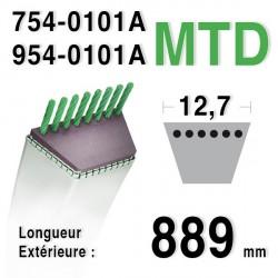 Courroie MTD 754-0101A - 954-0101A CUB CADET - BOLENS