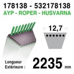 Courroie AYP / ROPER 178138 HUSQVARNA 532178138