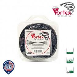 Coque fil nylon hélicoïdal copolymère VORTEX  - 2.40mm x 35m - Qualité professionnelle - Fabrication américaine