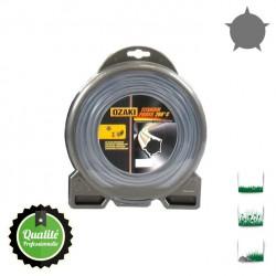 Coque fil nylon pentagonal bi-composant OZAKI Titanium Power - 2.40mm x 97m - Qualité professionnelle