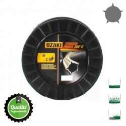 Coque fil nylon pentagonal bi-composant OZAKI Titanium Power - 3.50mm x 45m - Qualité professionnelle