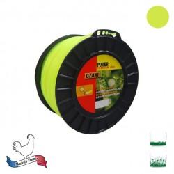 Bobine fil nylon rond OZAKI Premium - 3.30mm x 139m - Qualité professionnelle - Fabrication française