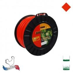 Bobine fil nylon carré OZAKI Premium - 3mm x 132m - Qualité professionnelle - Fabrication française