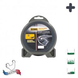 Coque fil nylon hélicoïdal OZAKI Twisted Power Silent Line  - 2.40mm x 44m - Qualité professionnelle - Fabrication française