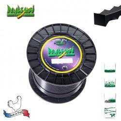 Bobine fil nylon cranté Nylsaw - 3mm x 132m - Qualité professionnelle - Fabrication française