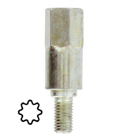 Adaptateur d'arbre 8 dents pour renvoi d'angle universel