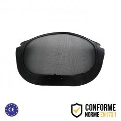 Visière de rechange pour visière de protection relevable grillagée en métal avec élastique