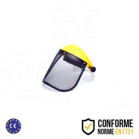 Visière professionnelle de protection à écran grillagé relevable en métal