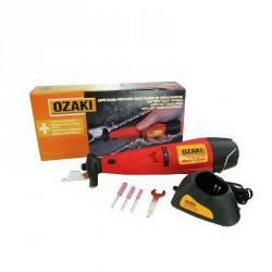 Affuteuse électrique sans fil OZAKI - SHARP pour chaîne de tronçonneuse