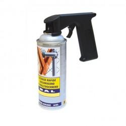 Poignée pistolet pour bombe ou aérosol de peinture spéciale motoculture