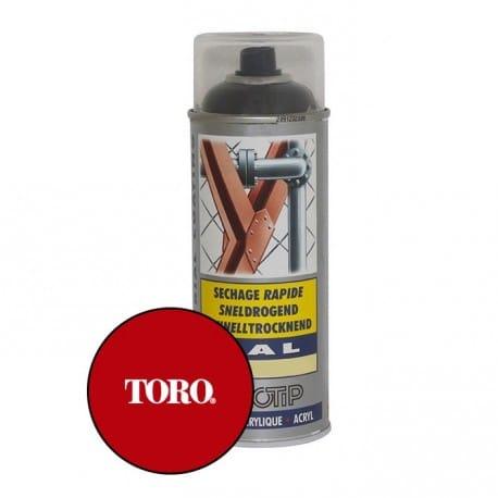 Peinture spéciale motoculture couleur ROUGE TORO - Aérosol 400ml