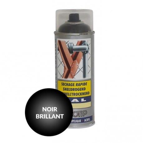 Peinture spéciale motoculture couleur NOIR BRILLANT - Aérosol 400ml