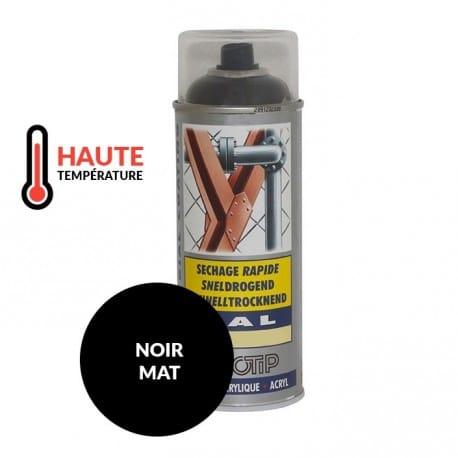 Peinture sp ciale motoculture couleur noir mat haute temp rature a rosol 400ml - Peinture haute temperature noir ...