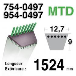Courroie KEVLAR  MTD 754-0497 - 954-0497