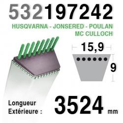 COURROIE 192242 / 532197242 HUSQVARNA - JONSERED - MC CULLOCH - POULAN