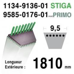 Courroie STIGA 1134-9136-01, 9585-0176-01, 1134913601, 9585017601 PRIMO 13-2411-11 / 13-2414-01 / 1125M
