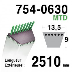 Courroie MTD 754-0630, 754-0630A, 954-0630