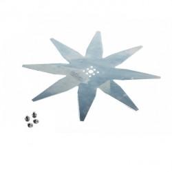 Lame robot tondeuse courbée 8 dents diamètre 240mm AMBROGIO 200-Z0510-0A - 200Z05100A