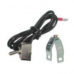 Contacteur - Interrupteur ON/OFF collier de serrage guidon diamètre 19 à 23mm - universel