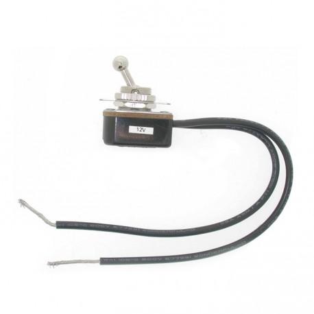 Contacteur - Interrupteur à bascule à visser diamètre 12mm - universel