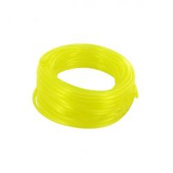 Durite jaune translucide longueur 15m - diamètre intérieur 3,5mm extérieur 6,5mm