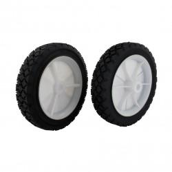 Roue en plastique à moyeu déporté universelle - diamètre extérieur 152 mm