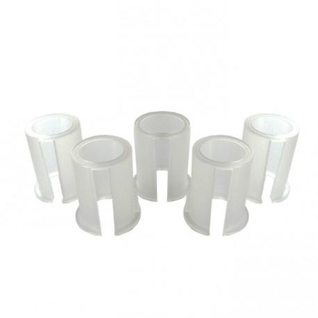 Jeu de 5 bagues plastiques de diamètres 24mm - 25mm - 25,4mm - 26mm - 27mm pou renvoi d'angle universel
