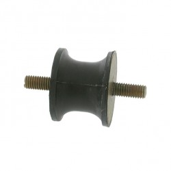 Silent bloc universel modèles Diabolo - diamètre 40mm - L 30mm - Filet M8 - Longueur filet 22,5mm.