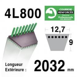 COURROIE KEVLAR 4L800 - 4L80 - AYP / ROPER 120418 X - 123461 X - 124293 X - HUSQVARNA 532123461 - 532120418