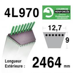 COURROIE KEVLAR 4L970 - 4L97 - MURRAY 37x87 - CASTELGARDEN / GGP 135062003/0 - MTD 7540478
