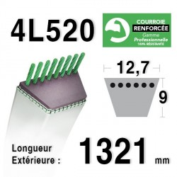 COURROIE KEVLAR 4L520 - 4L52 - MTD 7540229 - BOLENS 1724261