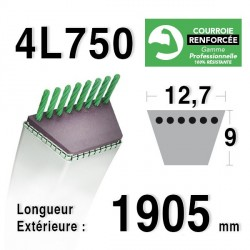 COURROIE KEVLAR 4L750 - 4L75 - COUNTAX : 22906300