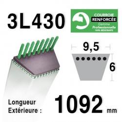 Courroie 9.5mm x 1092mm - 3L43 - KEVLAR
