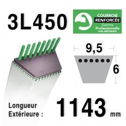 Courroie 9.5mm x 1143mm - 3L45 - KEVLAR