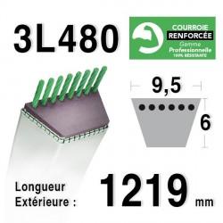 Courroie 9.5mm x 1219mm - 3L48 - KEVLAR