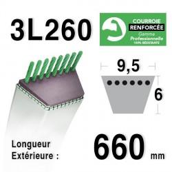 Courroie 9.5mm x 660mm - 3L26 - KEVLAR