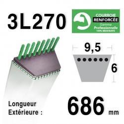 Courroie 9.5mm x 686mm - 3L27 - KEVLAR