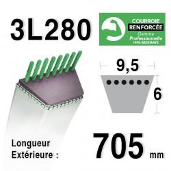 Courroie 9.5mm x 705mm - 3L28 - KEVLAR