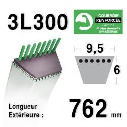 Courroie 9.5mm x 762mm - 3L30 - KEVLAR