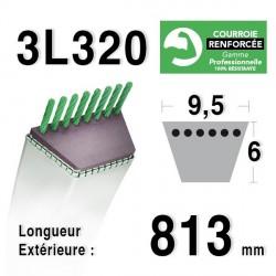 Courroie 9.5mm x 813mm - 3L32 - KEVLAR