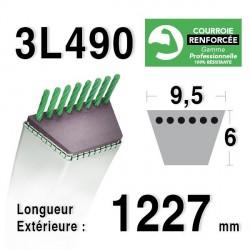 Courroie 9.5mm x 1227mm - 3L49 - KEVLAR - BOLENS 170146 - 170746