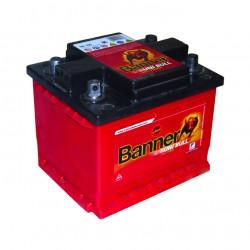 Batterie 12V 58A/H 4 bornes coniques réversible BANNER 50342-1 - 50342-2 - 503421 - 503422