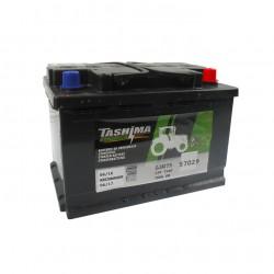 Batterie 12V 75A/H - borne + à droite - TASHIMA pour modèles KUBOTA