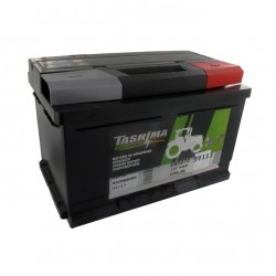 Batterie 12V 64A/H - borne + à droite - TASHIMA