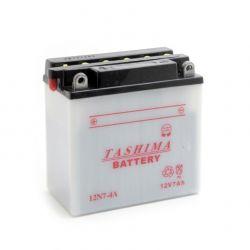 Batterie 12N74A + à gauche