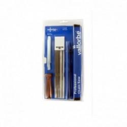 """Pack VALLORBE 3 limes rondes diamètre 4mm + accessoires pour chaînes 1/4""""-3/8"""" LP"""