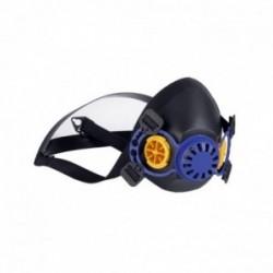 Demi masque de protection respiratoire UNIVERSEL sans filtre pour 2 filtres à vis - Norme EN140