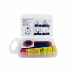 Kit réparation chambre à air SHAK avec 2 rustines diamètre 20 mm et 5 rustines 45x25 mm + colle et abrasif
